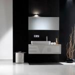 Черно-белая ванная комната – дизайн, фото