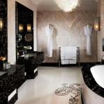 bathroom design in black and white