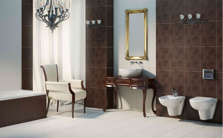 Ванные комнаты в классическом стиле