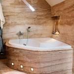 Интересным вариантом будет ванная из гранита и природного камня