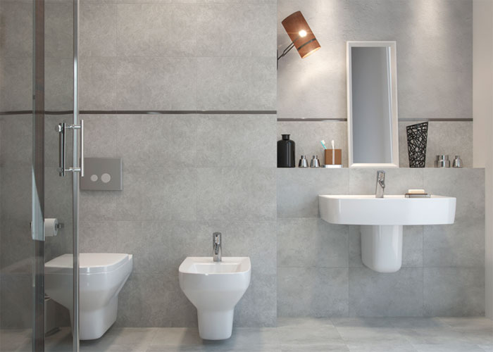 Серая ванная комната – дизайн и характерные черты