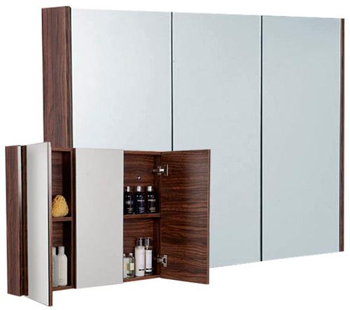 «два в одном» – это зеркало в ванной, установленное на всю стену