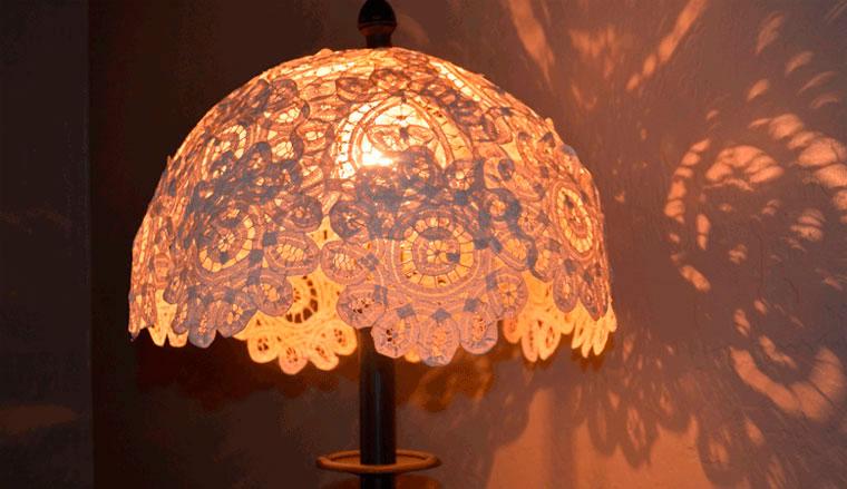 Как сделать новый абажур для лампы 755