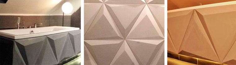 Декоративные плиты из бетона с эффектом 3D