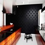 Интерьер кухни черного цвета
