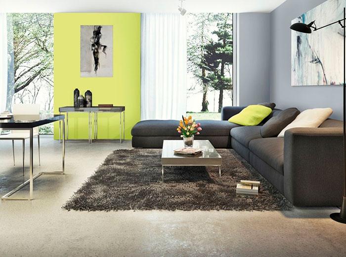 Модные цвета стен 2016