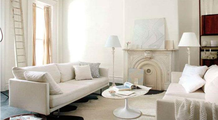Вечный белый цвет в современном интерьере
