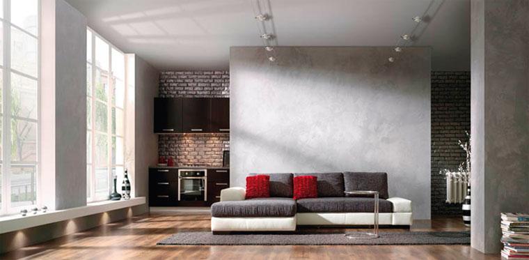 Декоративная стена в гостиной
