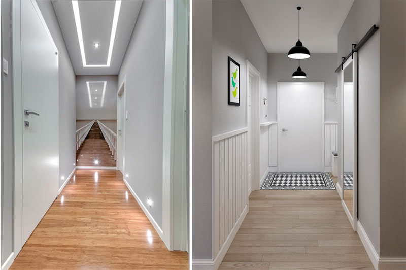 Дизайн длинного узкого коридора – оптические иллюзии