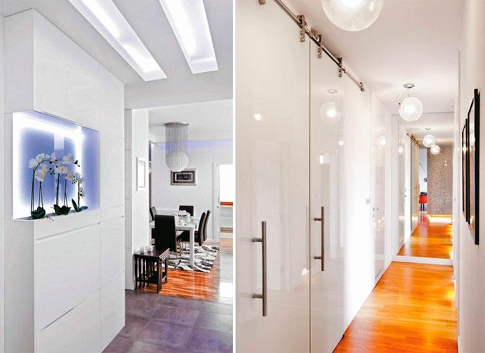 Дизайн длинной узкой прихожей – правильное освещение