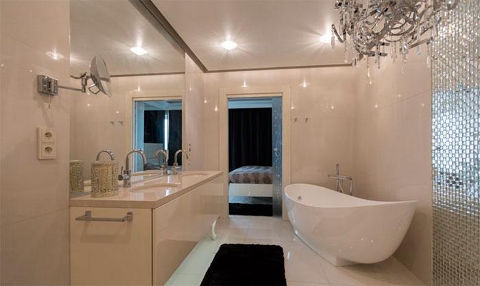 Идеи для интерьера ванной в стиле гламур