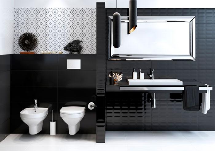 Плитка гламур в интерьере ванной
