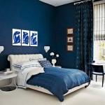 Декор спальни в голубых тонах