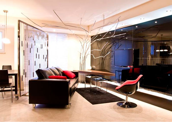 Блестящие стены в стиле гламур