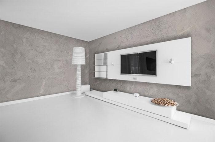 эффект бетона в отделке стен