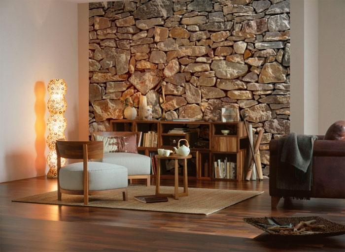 Элегантная каменная стена