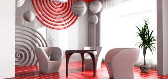 Интерьер стены в гостиной