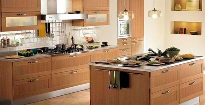 Сочетание цветов в коричневой кухне