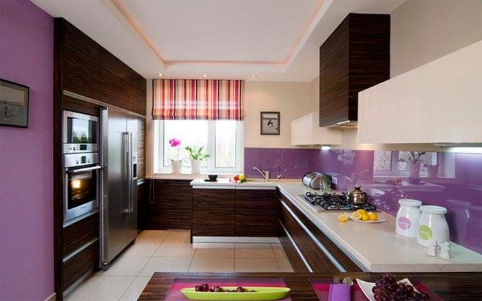 Фартук для кухни коричневого цвета