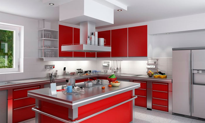 Фартук для красной кухни