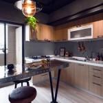 Кухня в стиле лофт в квартире