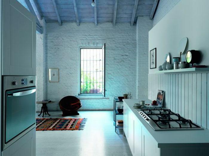 Кухня в стиле лофт, фото. Высокие потолки и постиндустриальное пространство