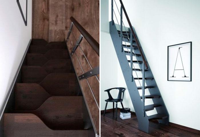 Варианты лестниц для маленьких комнат