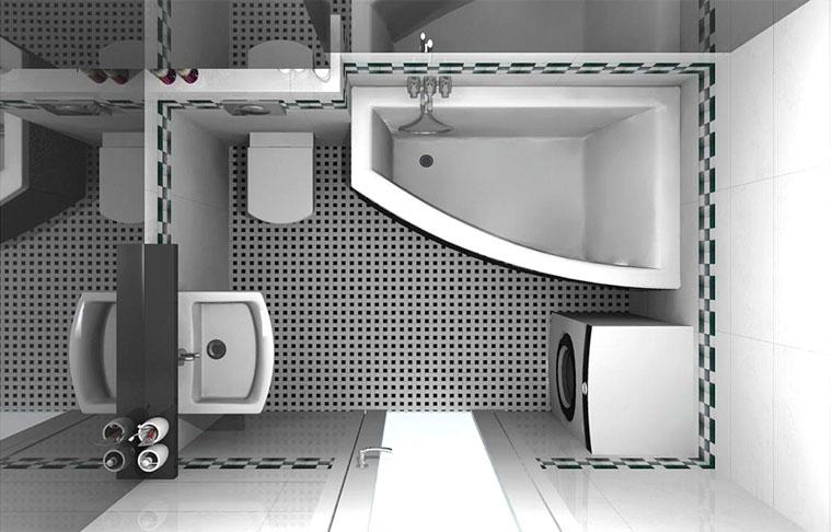 Маленькая ванная с туалетом дизайн фото