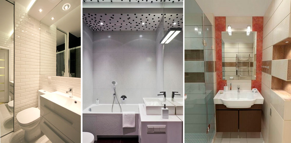 Правильное освещение для маленькой ванной комнаты