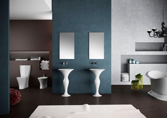 Где установить напольные раковины в ванную комнату?