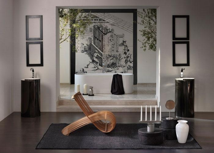 Современная напольная раковина для ванной