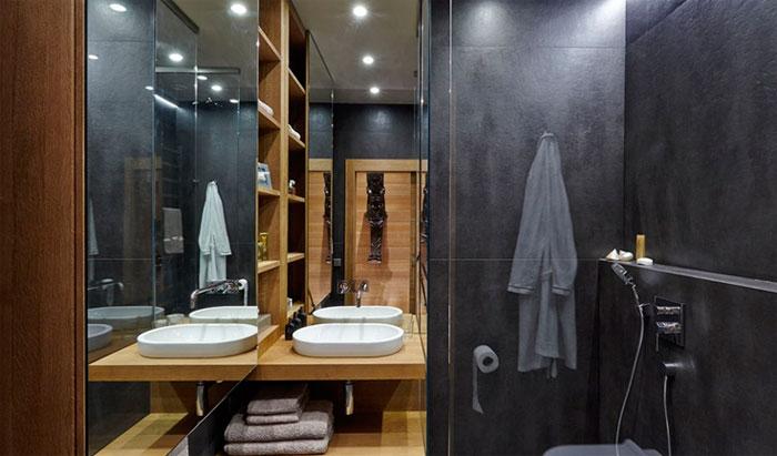 большая плитка в ванную в современном стиле