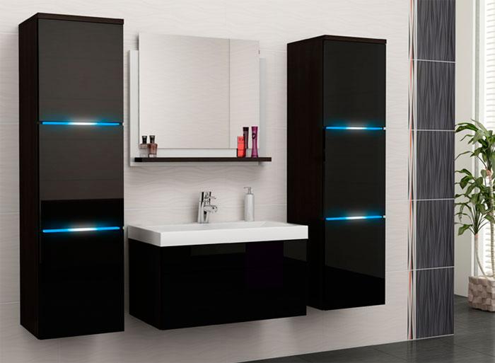 Дизайн ванной комнаты в современном стиле – глянцевые поверхности