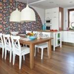 Обои для кухни современный дизайн - фото
