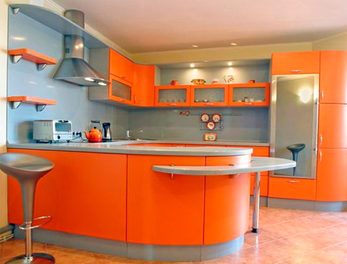 Фартук для оранжевой кухни