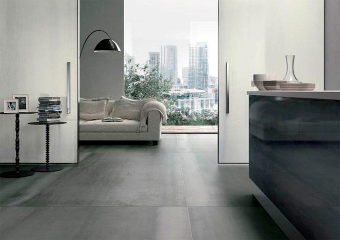 Варианты дизайна с керамической плиткой, как металл