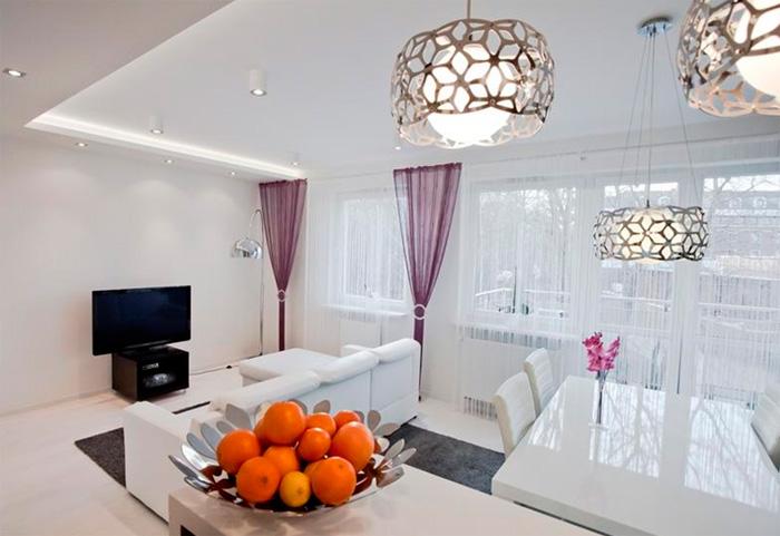 Подвесной светильник в гостиную