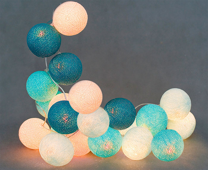 Светильники в скандинавском стиле сotton ball lights или «хлопковые шарики»