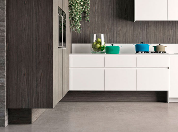 Сочетание серого в интерьере кухни