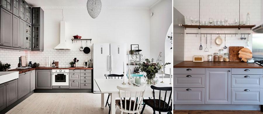 Кухня серого цвета и скандинавский стиль
