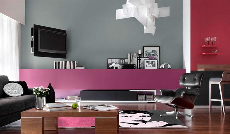 Серый и розовый в интерьере