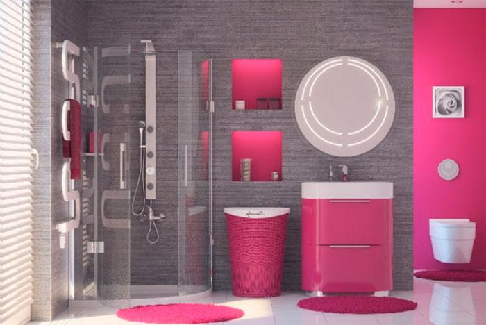 Серый и розовый в интерьере – модное сочетание