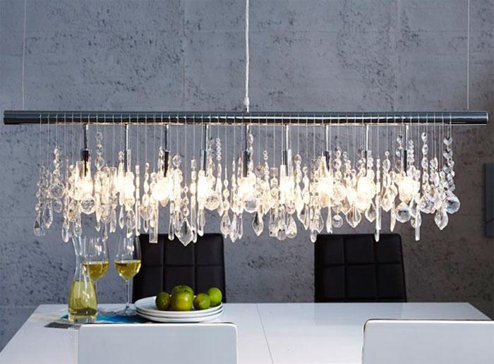 Необычные материалы для современных светильников
