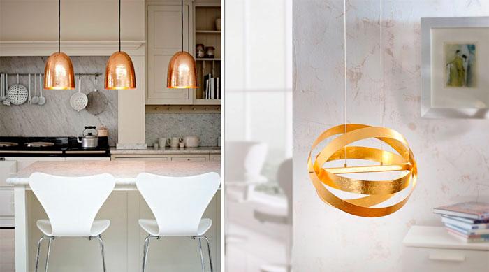 Золото в дизайне освещения