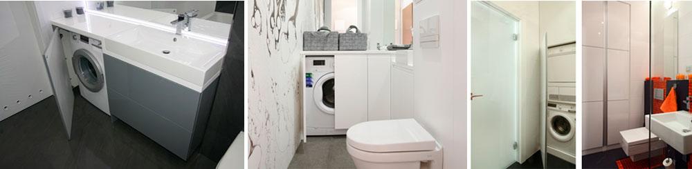 Размещение стиральной машины в ванной комнате
