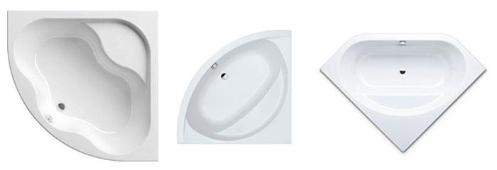 Симметричные угловые ванны