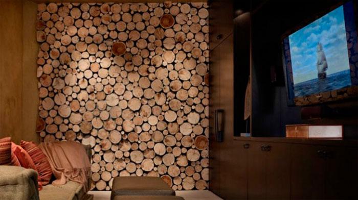 Оформление деревом и древоподобными материалами