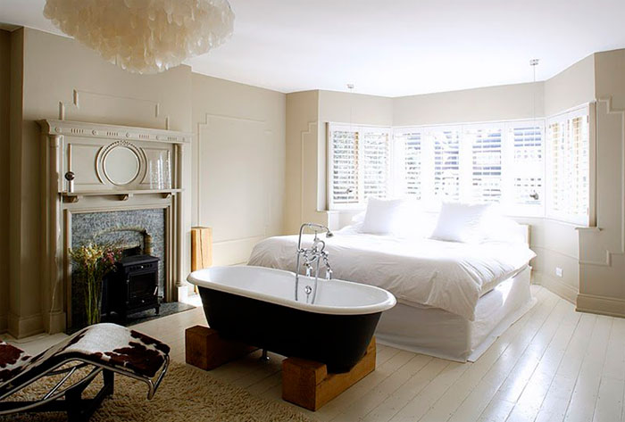 Ванна в спальне – дизайн