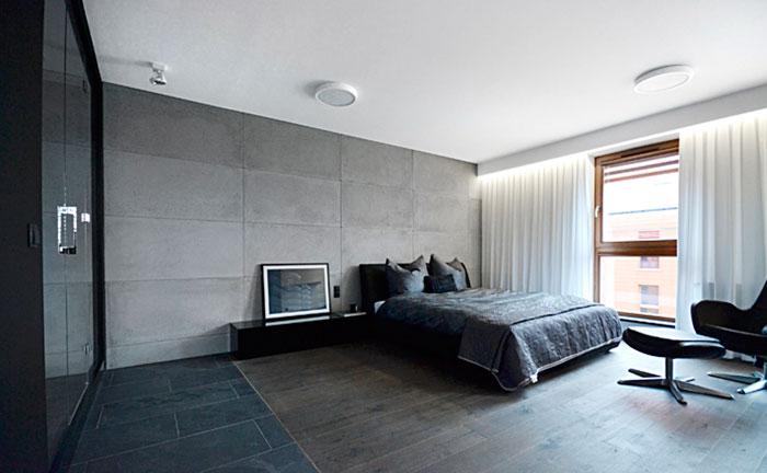 Design bedroom with bathroom