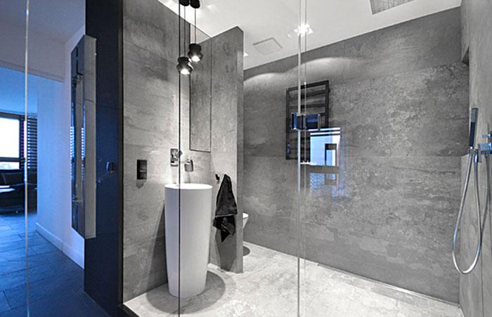 Дизайн спальни с ванной комнатой